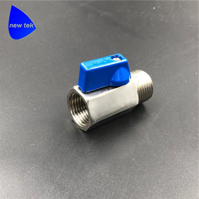 1/2in. (DN15) Stainless Steel Inline Manual Mini Ball Valve FxM NPT/BSPP/G Threaded