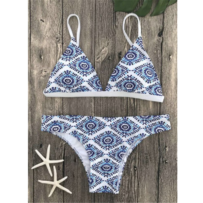 Fashion Women Print Bra Set Underwear Sexy Lingerie Bra Sets Push Up Bra and Brief Set lingerie top