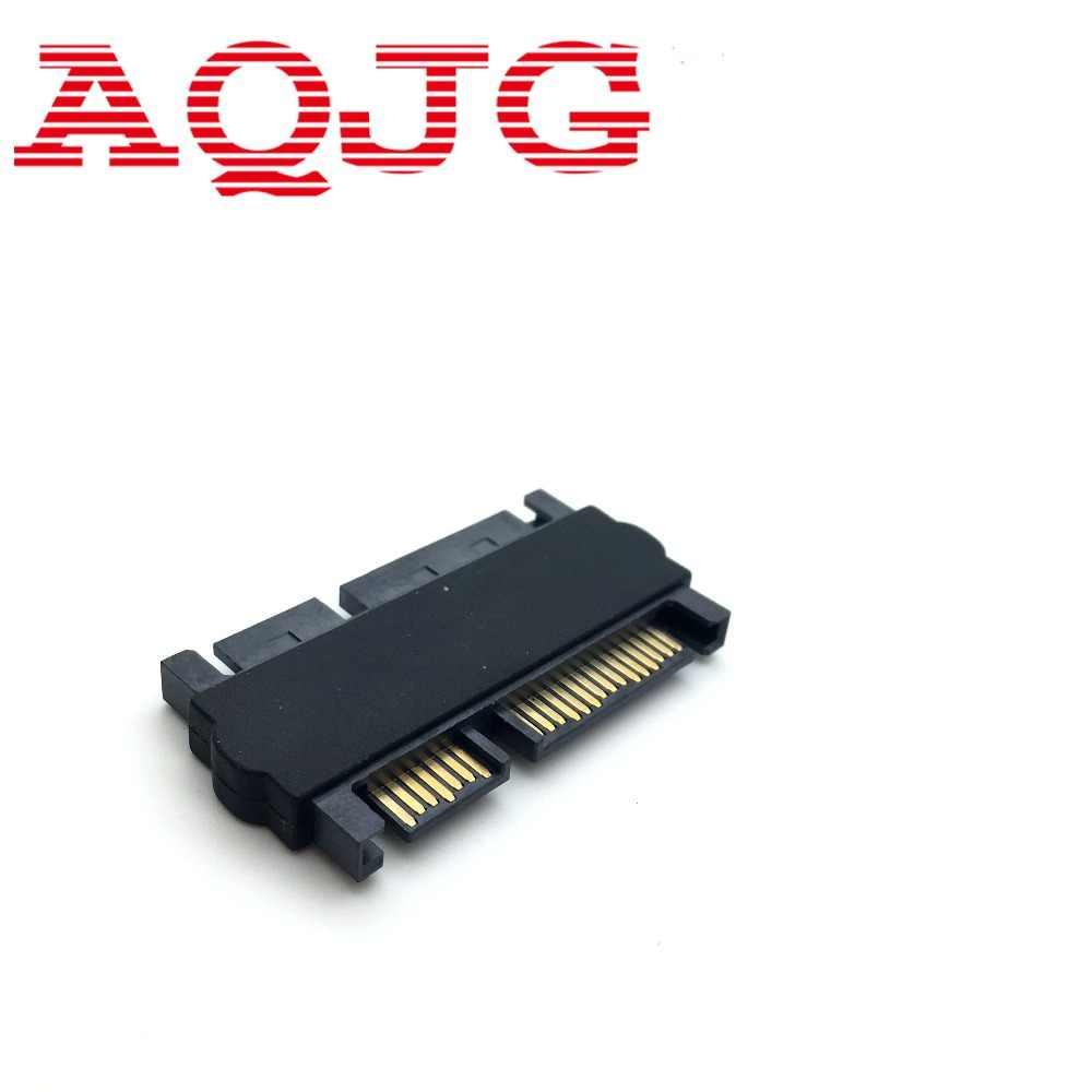 1 unid Delgado SATA 7 + 15 22Pin macho a macho SATA 7 + 6 13Pin Adaptador convertidor adaptador para escritorio laptop HDD disco duro