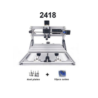 CNC2418 with ER11 cnc engraving machine laser engraving Pcb PVC diy mini Milling Machine wood router cnc 2418 best Advanced toys