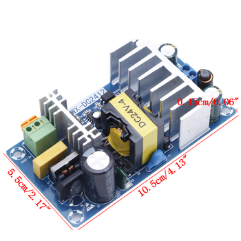 Modul Power Supply AC 110 v 220 v ke DC 24 V 6A AC-DC Switching Power Supply Papan