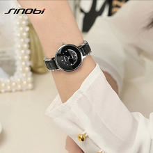 2017 marca de lujo sinobi correa de acero inoxidable relojes de pulsera de las mujeres reloj de pulsera de cristal de diamante para las señoras regalos trébol