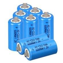 Синий 4~ 24 шт Ni-Cd 1,2 V 2/3AA 600mAh Ni-Cd аккумуляторные батареи