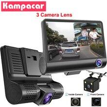 Kampacar 3 in 1 Car Dvr Mirror For Cars 3 Camera Lens 4.0 Inch Video Recorder Dual Dash Cam Auto Registrator 1080P Rearview DVRs