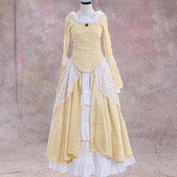 Victorian Elegant Gothic Aristocrat 18th Century Womens Cosplay Dress Medieval Wedding Costume L0516