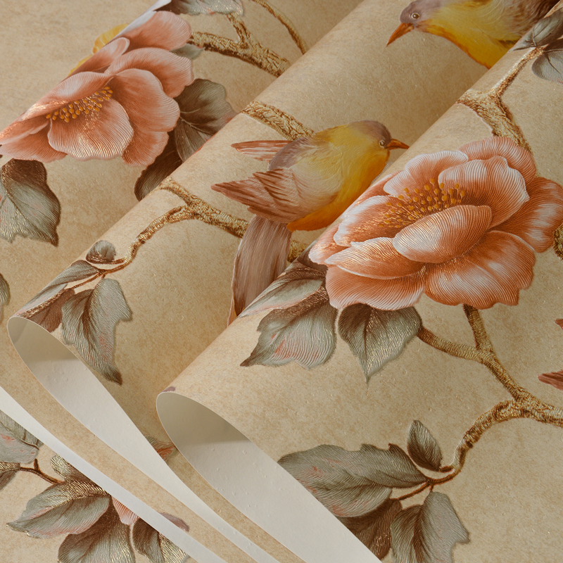 PAYSOTA American Bird Language Flower Essence  TV sofa Background Wall Paper 3D Bedroom Living Room Non-woven Wall Paper Roll hand painted non woven silk wallpaper painting tree flower with bird hand painted tv bedroom living room dinning sofa wall paper