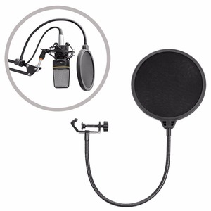 Image 5 - NB 35 Microphone Suspension Arm Stand Clip Holder and Table Mounting Clamp Pop Filter Windscreen Mask Shield Clip Kit