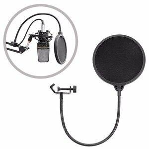 Image 5 - NB 35 Микрофон Подвески Стенд клип и Настольный держатель Монтажный зажим поп фильтр