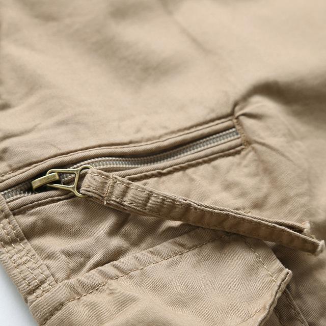 Cotton Male Casual Calf Length Pant Men Plus Size Trousers
