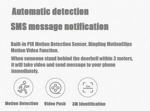Image 3 - (Auf Lager) xiaomi Null AI Gesicht Identifikation 720 P IR Nachtsicht Video Türklingel Set Erkennung SMS Intercom Kostenloser Wolke Lagerung