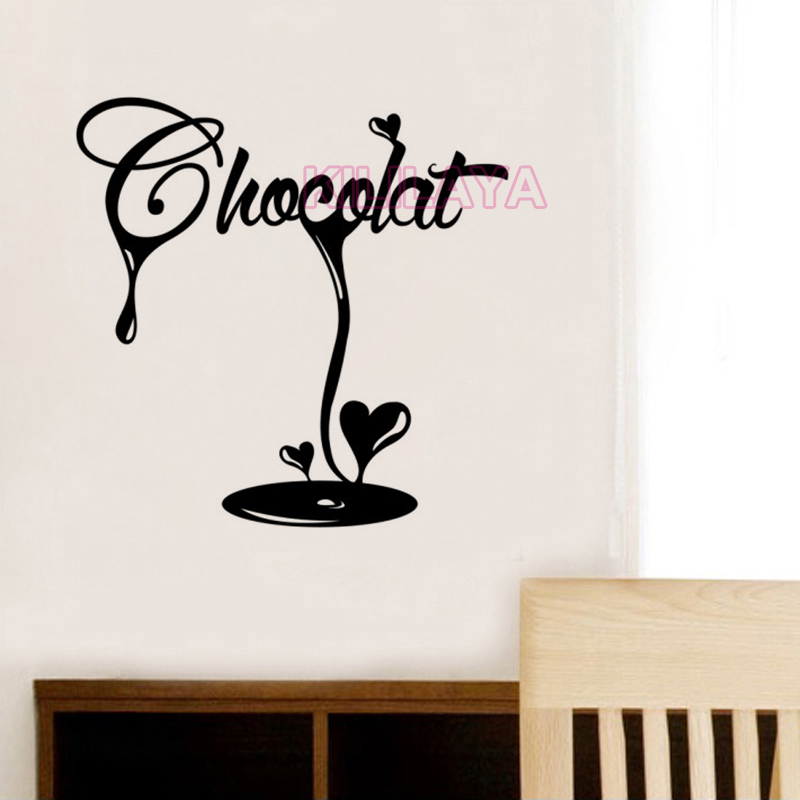 Stickers french la cuisine chocolat fondant vinyl wall for Decor mural cuisine