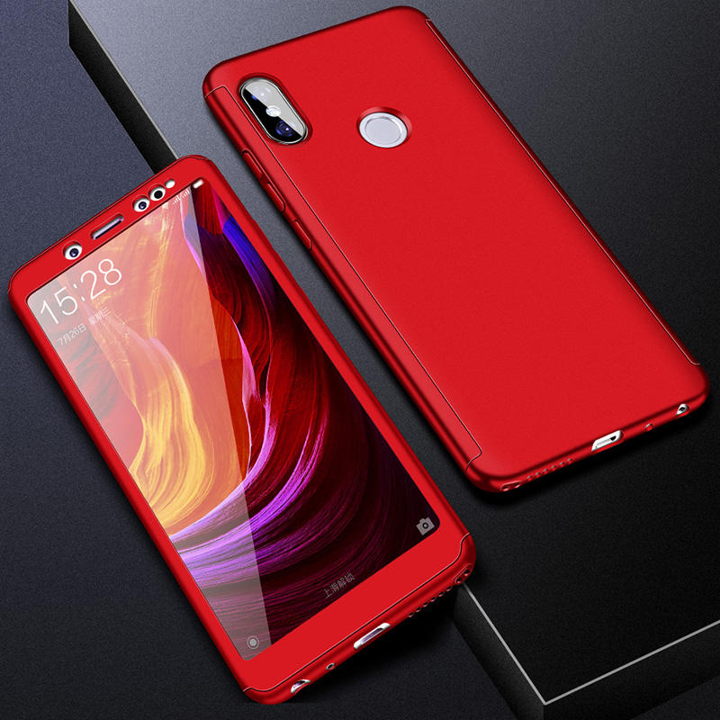 360 полный защитный чехол для телефона для Redmi Note7 note8 8A 7A для Xiaomi A3 Lite A2lite противоударный полный чехол s со стеклянной пленкой - Цвет: Красный