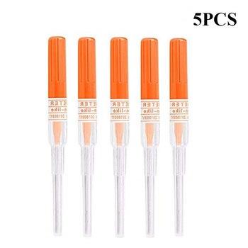 5PCS 14 Gauge Ear Nose Catheter Piercing Needles IV Catheter Needles Tattoo Piercings Tool for Piercing Supplies Tattoo Needles