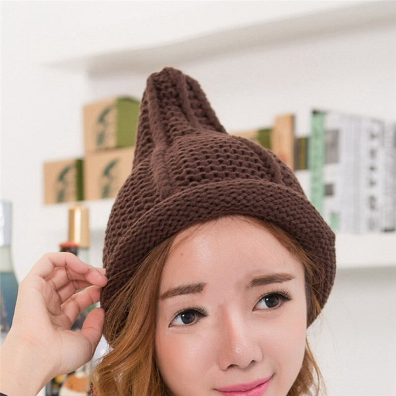 Ladies Fashion Women Warm Cute Pacifier Cap Shape Winter Plus Solid Slouchy Knit Hat Popular Hats For Women 30NV29 (3)