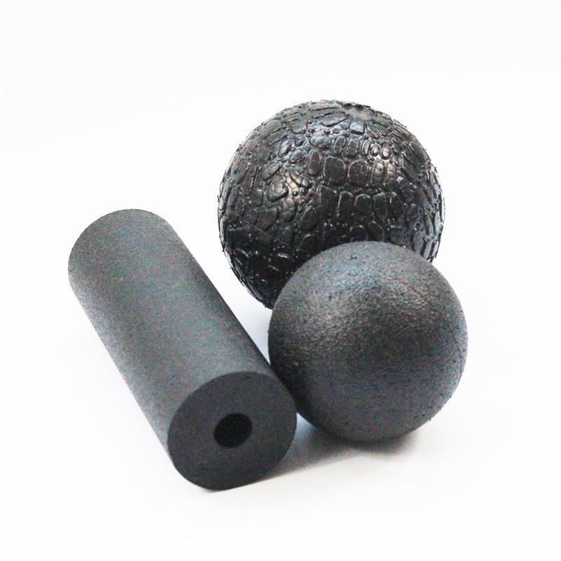 Health Fitness Massage Ball Medicine Yoga Myofascial Release Fascia Body Pilates Gym Sport Ball Massager Roller Black