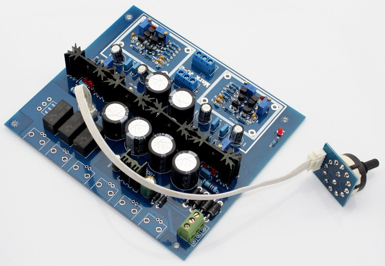 Assembled HIFI JC-2 Preamplifier Board With 3 Ways Input Switch Preamp Board цена