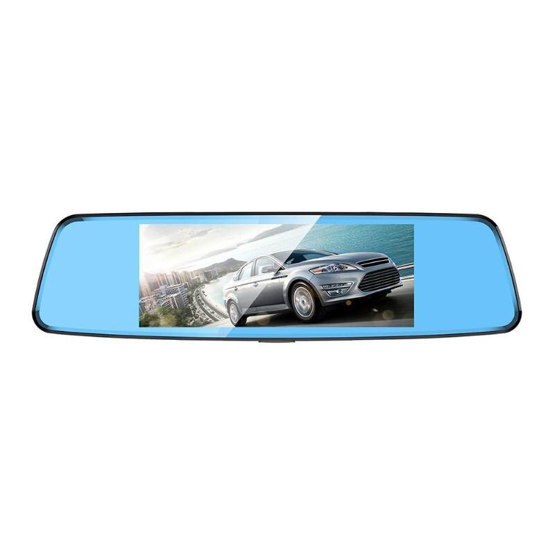 Anytek T77+ 6.86 Inch Car Rearview Mirror DVR Camera Dual Lens Dash Cam