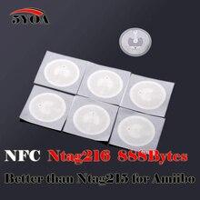 50 יחידות NFC Ntag216 סיירת אסימון מפתח תגיות תג תווית מדבקת תג 888 בתים