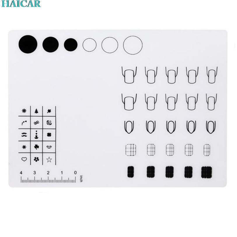 1pc translucent Silicone Workspace Stamping Plate Washable Mat Table Transfer Tools For Nail Art FEB3 ...