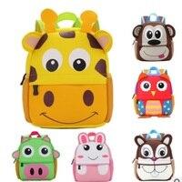 Children 3D Cute Animal Design Backpack Toddler Kid Neoprene School Bags Kindergarten Cartoon Comfortable Bag Giraffe