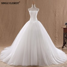 Romantic Lace Wedding Dresses Plus Size Vestido de noiva Bridal Dress A Line Sheer Neck Appliques Open back Gowns