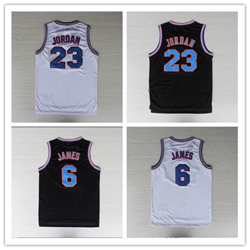 Space Jam Michael Jordan Kids Jersey 23 Basketball White Squad Toones New Shirt