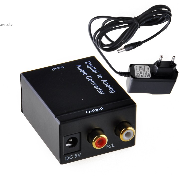 Dropshipping New Converters Audio Converter Digital Optical Coaxial RCA Toslink to Analog Audio Converter Adapter EU new digital to analog audio converter adapter digital adaptador optic coaxial rca toslink signal to analog audio converter rca