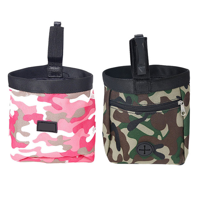 Green/Pink Pet Dog Puppy Pouch Walking Food Treat Snack Bag Agility Bait Training Pockets Waist Storage Hold Food Container Bag