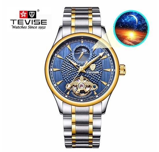 36f77e30645 TEVISE Automatico Self-Wind Men Steampunk Tourbillon Mechanical skeleton  Watch Business Waterproof Clock Relogio Masculino t808b