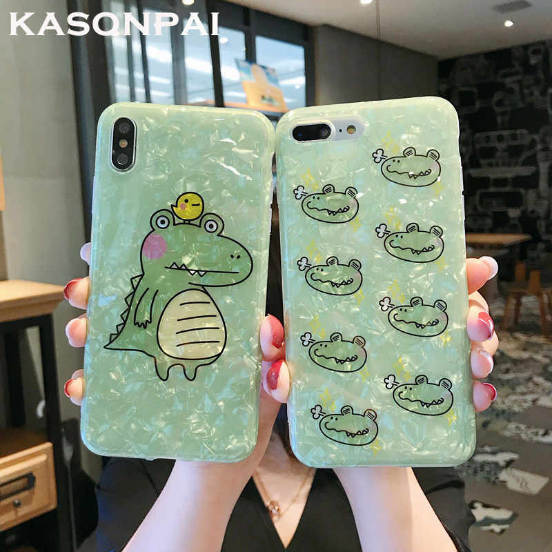 Cartoon Dinosaur Conch Shell Phone Case For Huawei P20 Pro Mate 20 Pro P30 Pro Nova 4 3 3i 2S Honor 10 Cute Soft Back Cover Case
