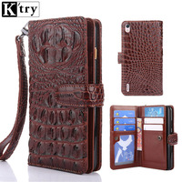 Luxury PU Leather Wallet Case For Huawei P7 Silicone Soft TPU Phone Cover For Huawei P7