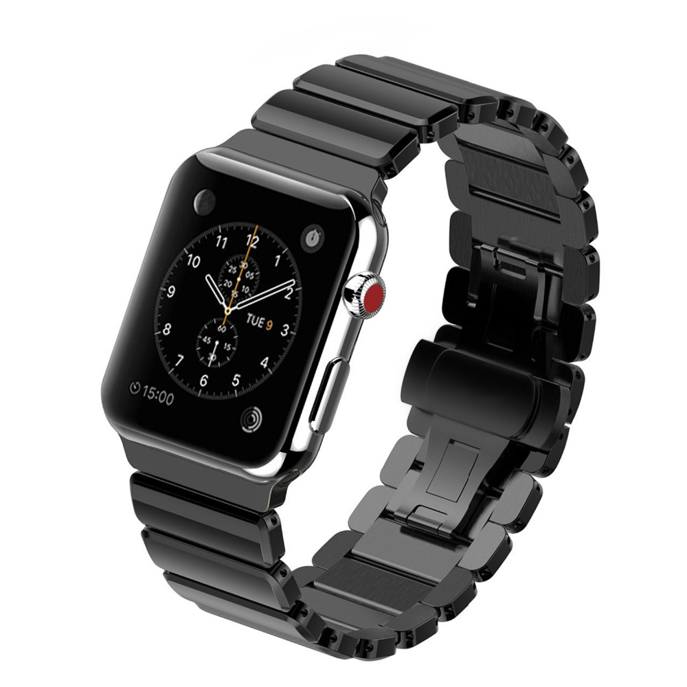 Stainless Steel band for Apple Watch 42mm/38 strap Link Bracelet  metal Butterfly buckle Watchband for iwatch 2/1 все цены