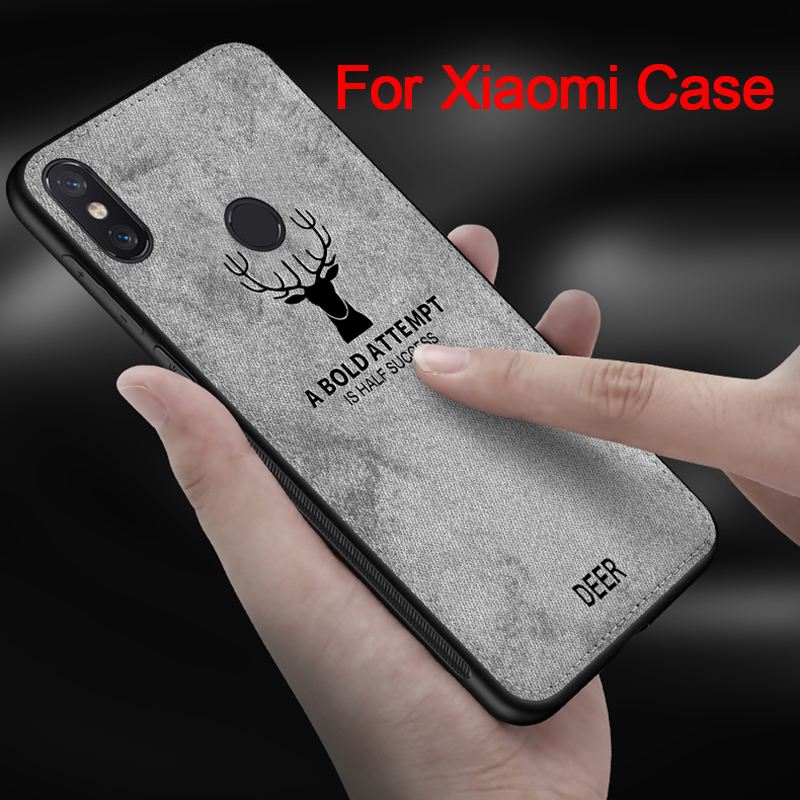 For Xiaomi Pocophone F1 Case Cover Silicone Fabric Back Cover Vintage Protective Coque Phone Cases For Xiaomi <font><b>Mi</b></font> 8 5 6 <font><b>MAX2</b></font> MAX3 image