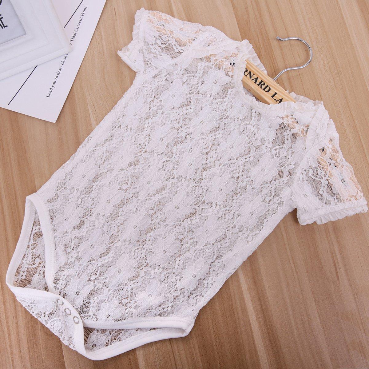 32fd575e4b35 2017 Toddler Infant Newborn Girls Sheer White Lace Floral Romper ...