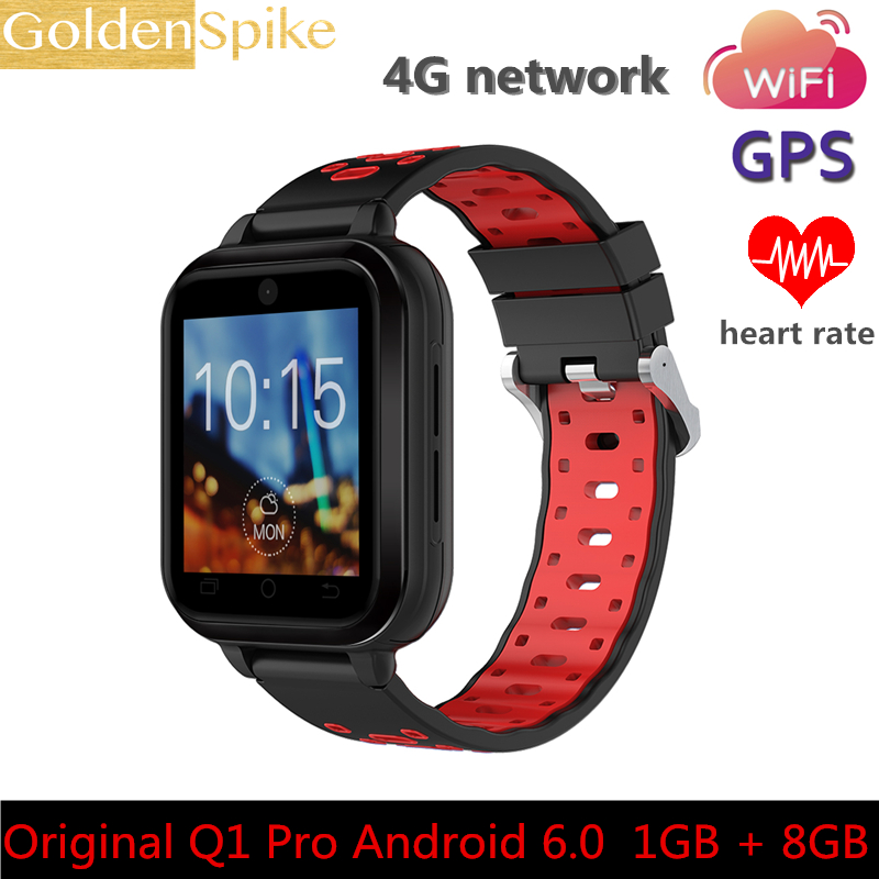 4G Android 6.0 Smart Watch 1GB 8GB MTK6737 Quad Core Wrist Watch Phone 720 mAh Sim Card Heart Rate Monitor Clock For Samsung IOS 4g gps android 6 0 smart watch m5 mtk6737 heart rate monitor support sim card camera business smartwatch for men women 2018 gift