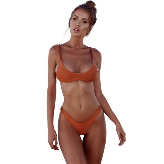 46e2ddf1fbc5d New Sexy Women Bikini 2018 Hot Swimsuit Push Up Padded Bra High Cut Bottoms Swimwear  Bathing