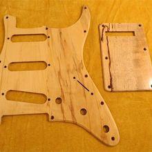 1 компл. SSS Накладку и накладка Spalted клена для FD ST стиль гитары