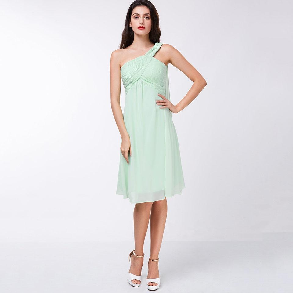 Dressv elegant   cocktail     dress   blue one shoulder sleeveless knee length sheath gown lady homecoming short   cocktail     dresses