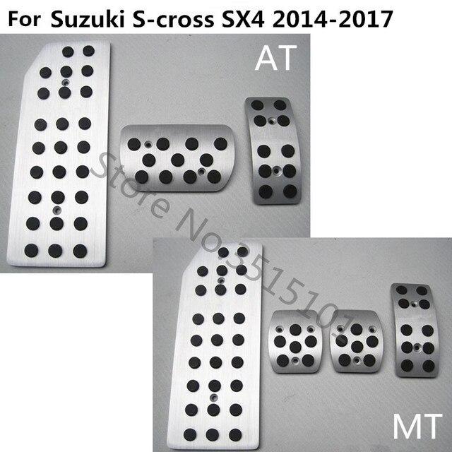 Auto styling abdeckung Aluminium legierung fuß Gas/benzin/öl Bremse Rest trim Pedal Für Suzuki S-cross scross SX4 2014 2015 2016 2017