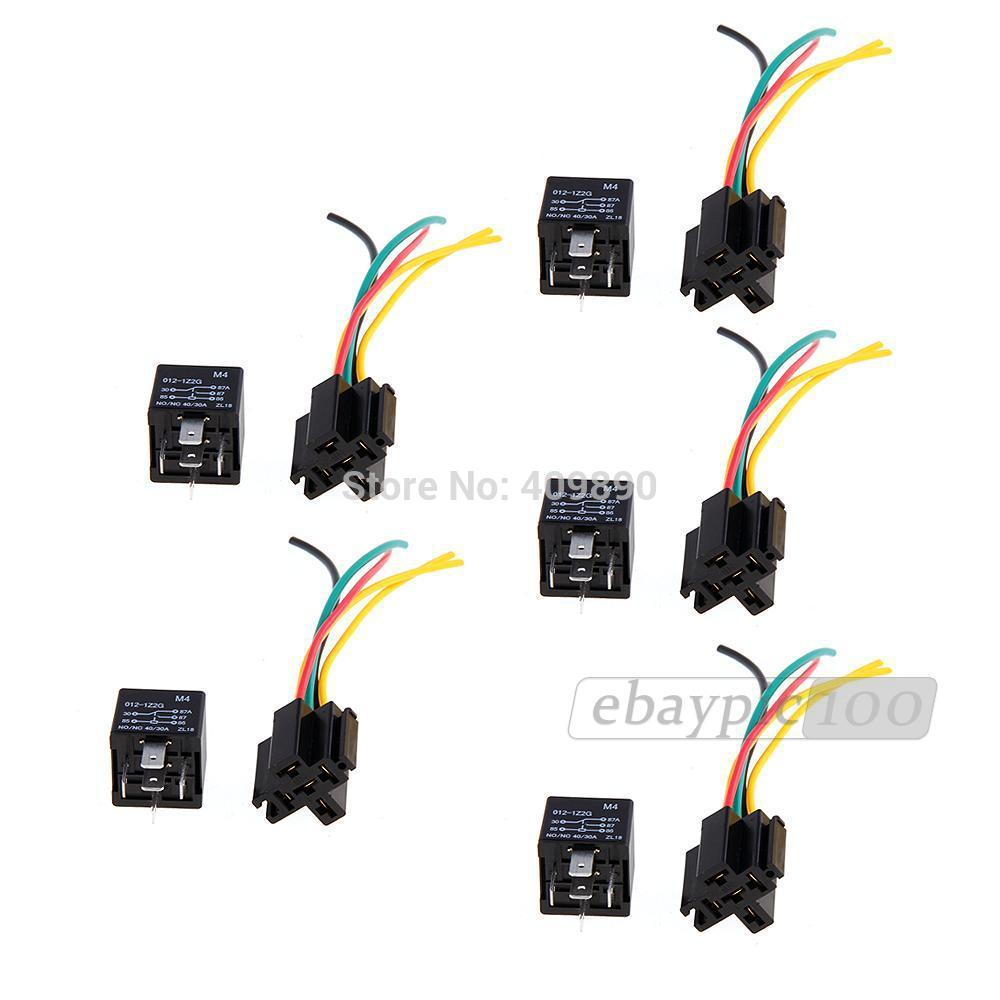 100pcs Lot 12v Volt Spdt Relay Wire Socket Car Automotive Alarm 40 Wiring Amp 30 40a In Relays From Home Improvement On Alibaba Group