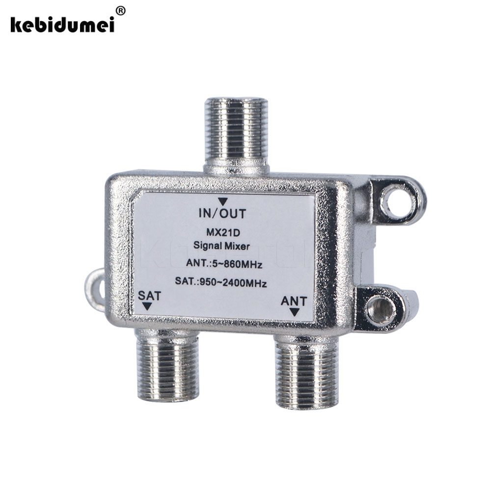 Practical 2 In 1 Dual Use 2 Way Port Tv Signal Satellite