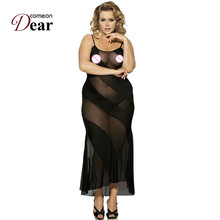 RK7389 Comeondear Women Babydoll See Through Mesh Sexy Club Langerie Sexy Erotic Black Sleeveless Fashion 2017 New Sex Dress