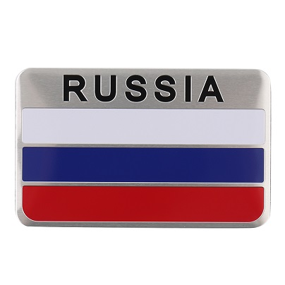 New and high quality 3D Aluminum Russia Flag car sticker accessories stickers For ford focus for chevrolet for skoda for honda