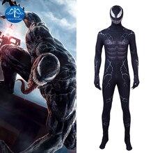 цена Marvel Venom Symbiote Costume Edward Eddie Brock Cosplay Carnival Superhero Halloween Adult Jumpsuit Men 3D Print Party Muscle онлайн в 2017 году