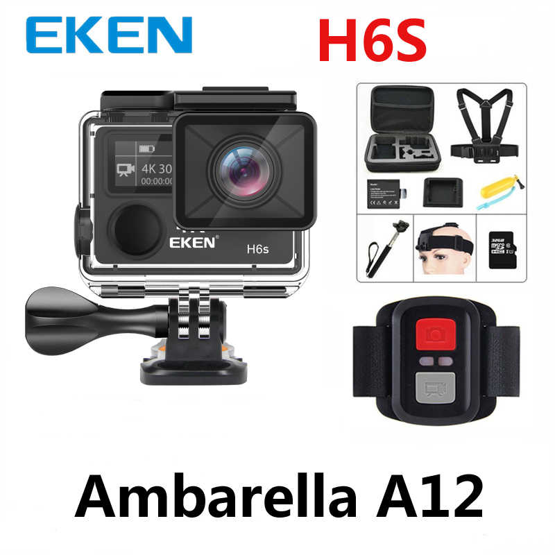Eken H6s Action wifi Camera 4k 30fps Ultra HD with Ambarella A12 chip inside 30m waterproof Go mini cam pro sport Camera EIS
