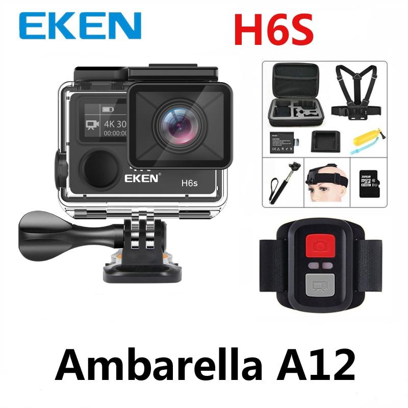 Caméra wifi Action Eken H6s 4 k 30fps Ultra HD avec puce Ambarella A12 à l'intérieur de 30 m étanche mini caméra sport cam pro EIS