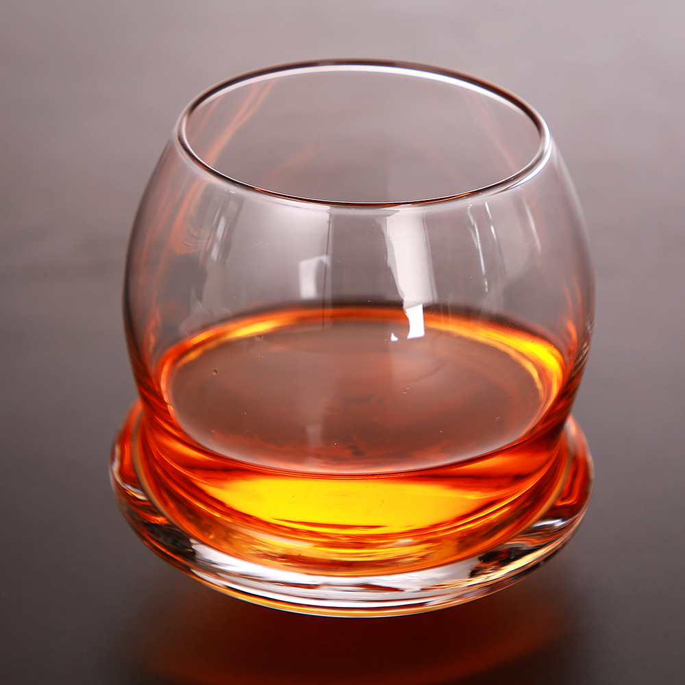 220ml Creative Whisky Glass Thicken Bottom Ultra Clear Round Fast Epacket Wine Beer Whisky Sherry Vessel for Home Bar Party