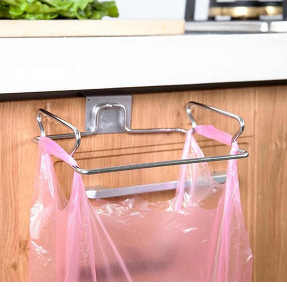 1 шт. креативная задняя дверь из нержавеющей стали полка для пакета крюк для хранения многофункциональный кухонный шкаф двери подвесные вешалки