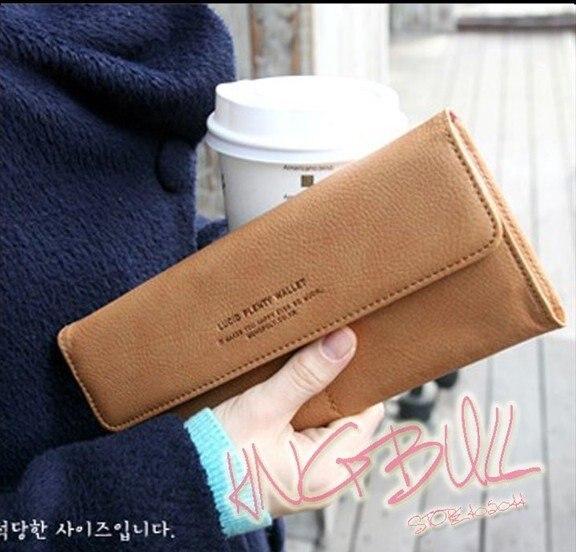 Free Shipping Leather Lady's Fashion Clutch Bag Purse