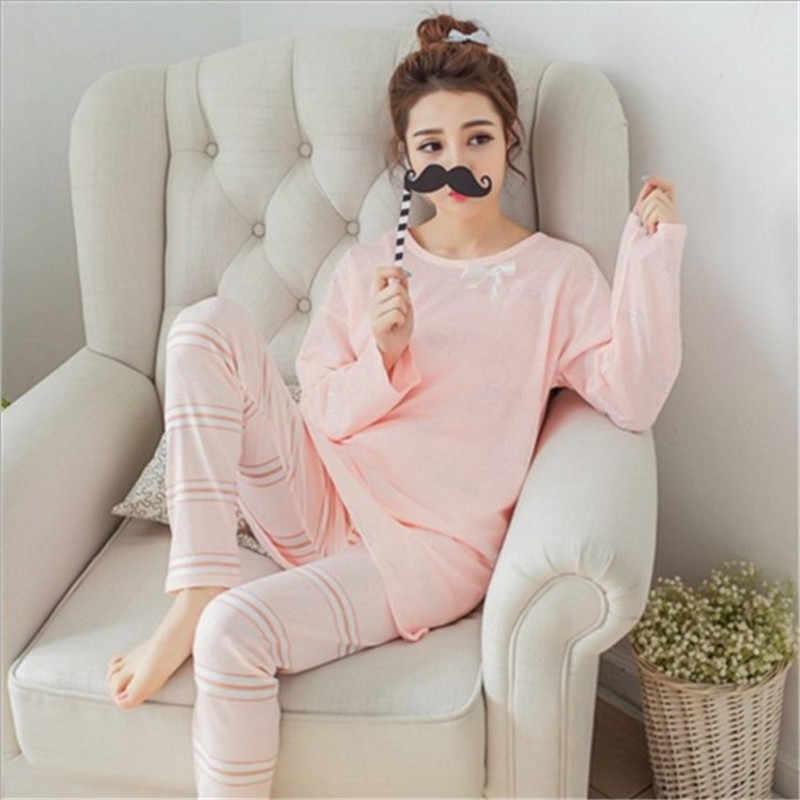 premier coup d'oeil ventes spéciales chaussures pour pas cher FLD150 2018 Cute Bow Pajamas Pigiama Donna Sleepwear Pyjamas Women Pyjama  Femme Primark Pajamas Sleepwear Pijama Mujer Night Sui